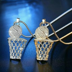 Bundle of basketball necklaces. 1 gold /1 silver